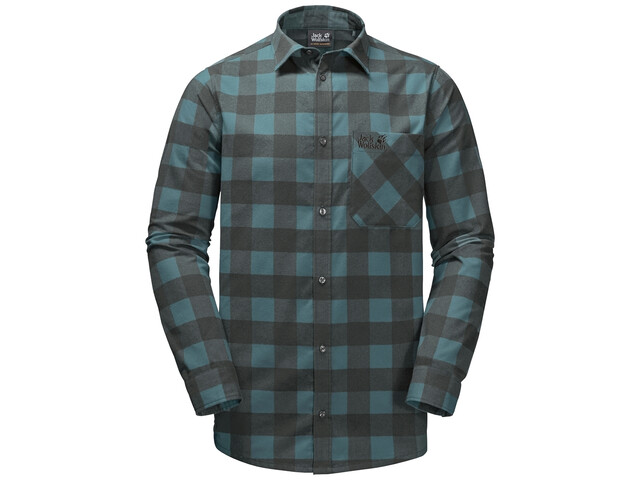 Jack Wolfskin Red River LS Shirt Men north atlantic checks